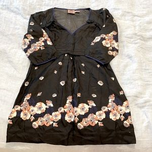 Juicy Couture 100% silk floral dress